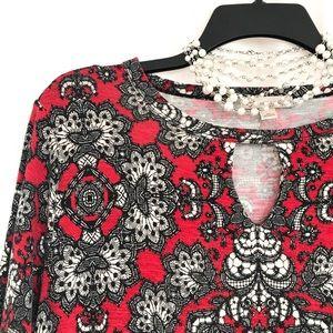 Dress Barn Lace Print Knit Tunic